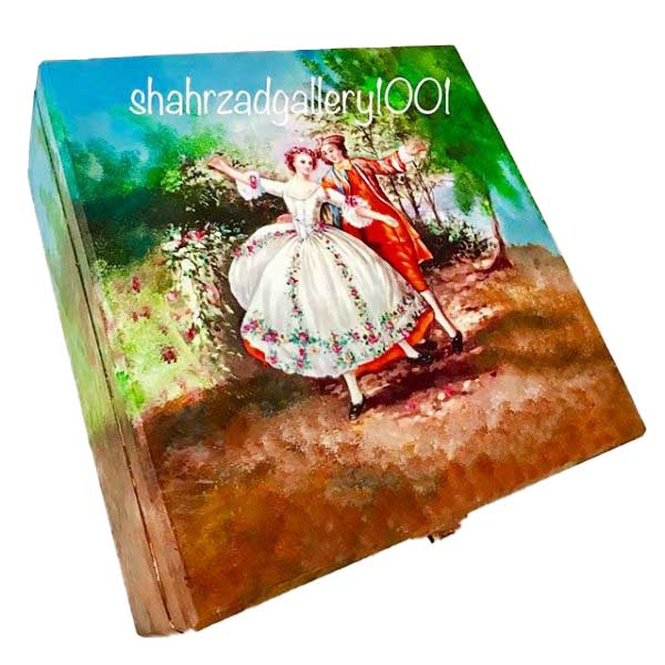 جعبه چوبی دکوپاژ عشق در پاریس گالری شهرزاد