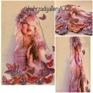 تابلو سه بعدی دختر پروانه ای 3