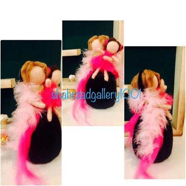 آموزش عروسک الیافی با کچه