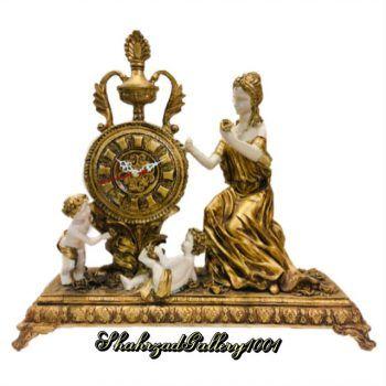 ساعت کلاسیک رومیزی - ساعت پلی استر - ساعت سلطنتی