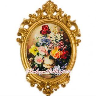 تابلو مخمل گلدان گل