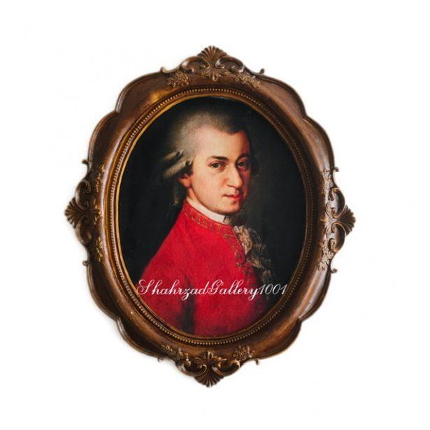 تابلو مخمل پیانیست موتسارت