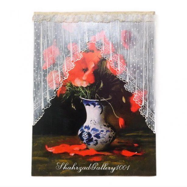 تابلو گلدان گل نما گیپور یا نما روسی