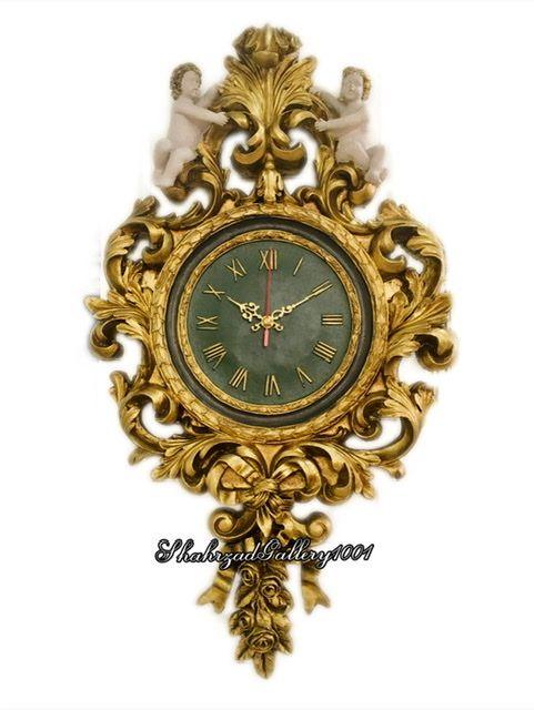 ساعت دیواری کلاسیک لوکس پتینه