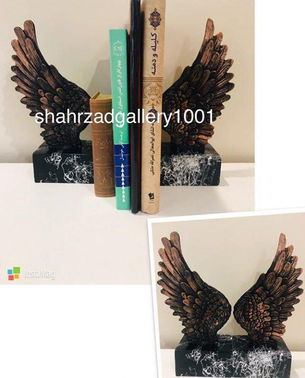 نگهدرانده کتاب طرح بال فرشته پایه مرمر
