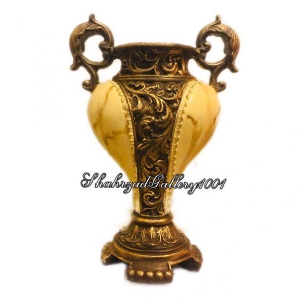گلدان پلی استر مرمر - گالری شهرزاد