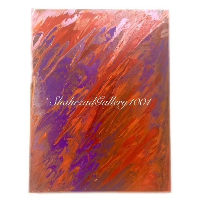 تابلو نقاشی سیال سرخ گالری شهرزاد