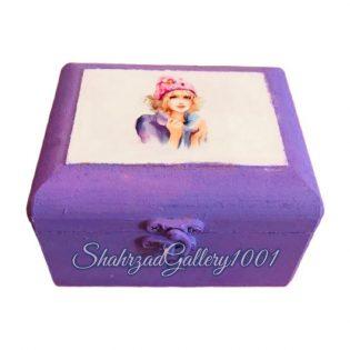 جعبه چوبی دخترانه کوچک گالری شهرزاد