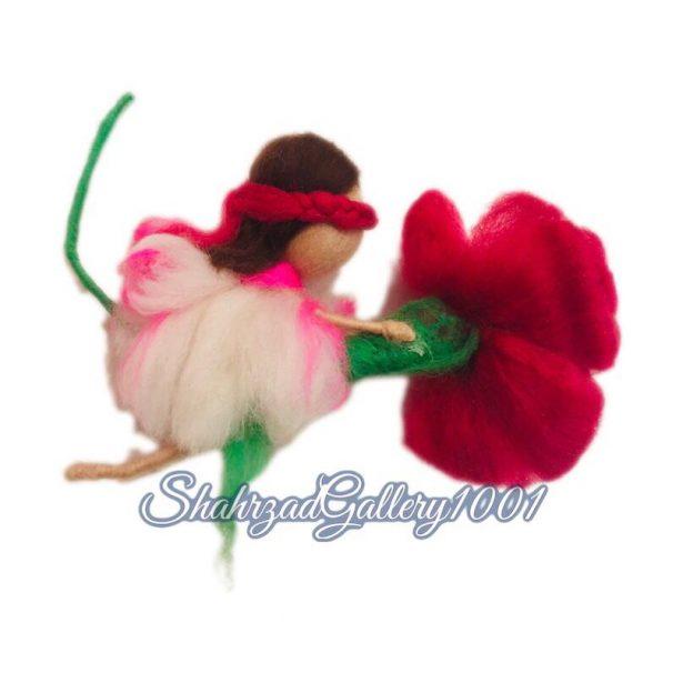 عروسک الیافی کچه گل سوار گالری شهرزاد