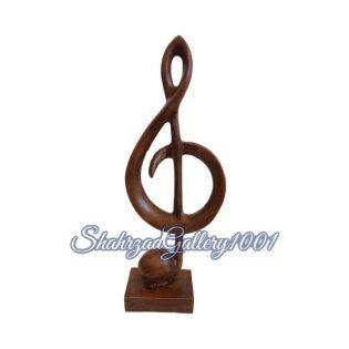 مجسمه نت موسیقی کلید سل گالری شهرزاد اسدی