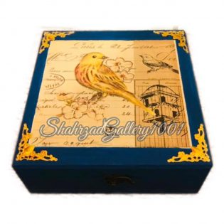 جعبه کادو پرنده گالری شهرزاد اسدی